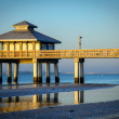 Pier in the ocean — Stock Photo