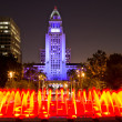 Los Angeles City Hall as seen from the Grand Park — Stock Photo #38171587
