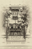 Angels Flight lower station — Stock Photo