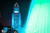Los Angeles City Hall as seen from the Grand Park — Stock Photo