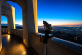 Los Angeles as seen from the Griffith Observatory — Stock Photo