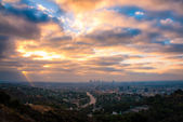 Los Angeles from the Hollywood Bowl Overlook — Stock Photo