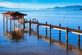 Stilt hut in a lake — Stock Photo