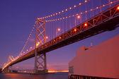 Bay Bridge at night — Stock Photo