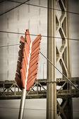 Cupids Arrow and Golden Gate Bridge — Stock Photo