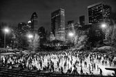 Ice skating at Wollman Rink — Stock Photo