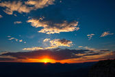 Sunset over the Grand Canyon — Stock Photo