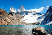 "Fitz roy and lake ""de los 3"" 01 — Stock Photo"