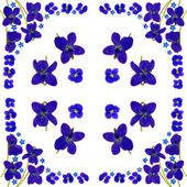 青い花のナプキン白 2 — ストック写真