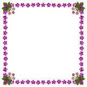Purple Blossoms Frame Square White2 — Stock Photo
