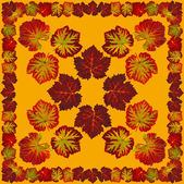 VineLeafNapkin1orange — Stock Photo
