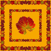 VineLeafNapkin3orange — Stock Photo