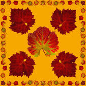 VineLeafNapkin4orange — Stock Photo