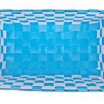 Blue plastic basket isolated on white background — Stock Photo #18562085