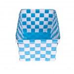 Blue plastic basket isolated on white background — Stock Photo #18562097