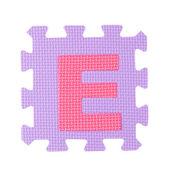 алфавит игрушка кусок, изолированные на белом фоне — Стоковое фото