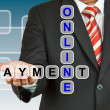 Stock Photo: Businessmwith wording Online Payment
