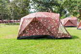 Camping tent in the mountains — Stock Photo