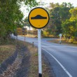 Speed bump traffic sign in a park — Stock Photo #18615005