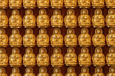 Small Buddha Statue in Rows — Stock fotografie