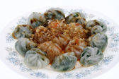 Chinese dumplings with vegetable filling — Stock Photo