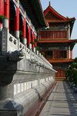 Koridor v čínský chrám — Stock fotografie