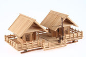 Country Style Wooden House Model — Stockfoto