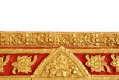 Beautiful Thai art on temple wall — Stock Photo