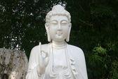 Marbre blanc bouchent de bouddha stutue — Photo