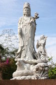 White Marble Quan Yin Statue — Stock Photo