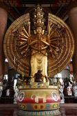 Golden Thousand hands Quan Yin — Stock Photo