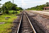 Railway Track with splitter — Stock Photo
