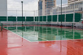 Wet Tennis Court after rain — Stock Photo