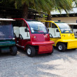 colorful golf cart — Stock Photo