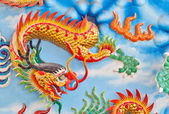 Closeup dragon on a wall in a Chinese temple — Stock Photo