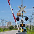 Stock Photo: Railroad Crossing in Thailand