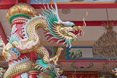 Dragon on a wall in a Chinese temple — Stock Photo
