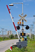 Railroad Crossing in Thailand — Stock Photo