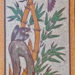 Bamboo painting on a wall in Chinese temple — Stock Photo