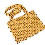 Beads handbag made from wood isolated on white background — Stock Photo #23868511