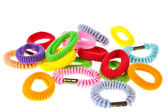 Colorful hair elastic isolated on white background — Stock Photo