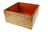 Wicker Box isolated on white background — Zdjęcie stockowe