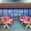 Empty waiting chair in the airport - Stock Photo