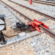 Stock Photo: Railway junction and switch