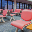 Empty waiting chair in the airport — Stock Photo
