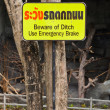 Beware of Ditch sign — Stock Photo