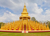 Top five hundred pagodas in Wat pasawangboon Saraburi, Thailand — Stock Photo