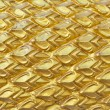 Royalty-Free Stock Photo: Texture sculpture of Golden Dragon scales