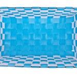 Blue plastic basket isolated on white background — Stock Photo #24718237