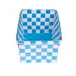 Blue plastic basket isolated on white background — Stock Photo #24718265